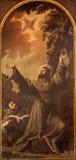 Padova - Stigmatization dello St Francis di Assisi da Luca Ferrari da Reggio (1605 - 1654) in chiesa San Francesco del Grande Fotografia Stock