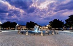 Padova sunset blue purple  over ancient Prato della Valle Square Royalty Free Stock Photos