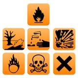Padrão de Europa dos pictograma do perigo Foto de Stock