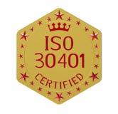 Padrão do ISO 30401 Fotografia de Stock Royalty Free