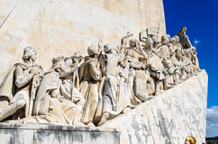 Padrão dos Descobrimentos or Discoveries Monument Lisbon. Overlooking the Tagus River, this memorial is a tribute to the Portuguese discoverers such as Henry Stock Images