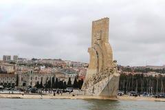 Padrão dos Descobrimentos in Lisbon, Portugal. A monument of the Discoveries Padrão dos Descobrimentos, a monument on the northern bank of the Tagus River Royalty Free Stock Photo
