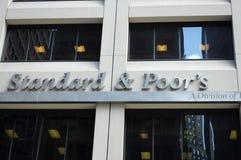 Padrão e pobres, S&P New York Fotografia de Stock Royalty Free