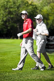 Padraig Harrington et caddie - NGC2010 Photo stock