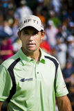 Padraig Harrington. Head & shoulder shot of Padraig Harrington, with the crowd blurred in the background Stock Photo