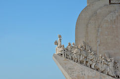 Padrao dos Descobrimentos landmark in Lisbon. The  Monument to Discoveries located along the Tagus River in Belem, close to Lisbon, with copy space Stock Photos