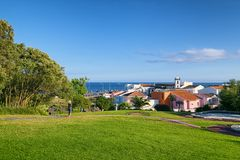 Padre福纳多Gomes庭院, Ponta Delgada市,圣地米格尔海岛,亚速尔群岛 图库摄影