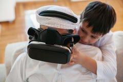 Padre árabe And Son Fotografía de archivo