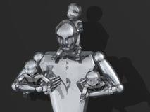 padre 3D y cabritos libre illustration