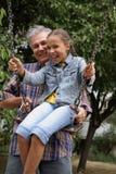 padre allegro della figlia Fotografie Stock Libere da Diritti