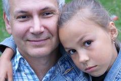 Padre allegro e figlia Fotografia Stock Libera da Diritti