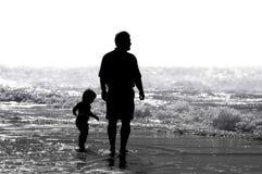 Padre & bambino Immagini Stock