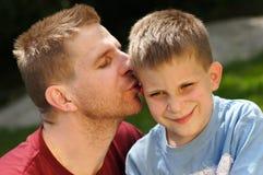 Padre & figlio Fotografie Stock Libere da Diritti
