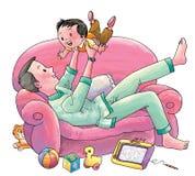 Padre attento royalty illustrazione gratis