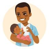 Padre Bottle Milk royalty illustrazione gratis