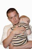 Padre che conforta figlio Immagine Stock Libera da Diritti