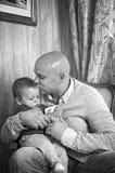Padre che gioca con il suo figlio Fotografia Stock Libera da Diritti