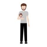 Padre che porta una neonata royalty illustrazione gratis
