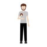 Padre che porta una neonata illustrazione vettoriale