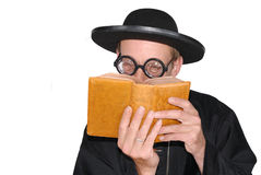 Padre com a Bíblia Fotos de Stock