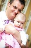 Padre con el bebé Imagen de archivo