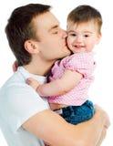 Padre con el bebé Fotografía de archivo