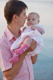 Padre con el bebé Imagenes de archivo