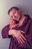 Padre con el bebé recién nacido Fotografía de archivo
