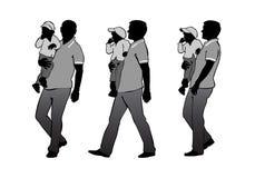 Padre con el niño stock de ilustración