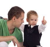 Padre con el niño Foto de archivo