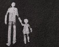 Padre con il bambino Fotografia Stock Libera da Diritti