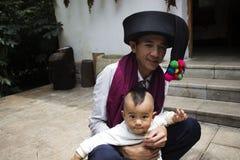 Padre con il suo figlio Fotografie Stock Libere da Diritti