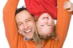Padre con la figlia Fotografia Stock Libera da Diritti