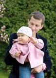 Padre con la hija Fotos de archivo