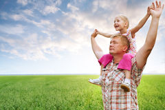 Padre con la hija Imagen de archivo libre de regalías