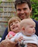 Padre con la sua figlia Immagini Stock Libere da Diritti