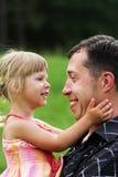 padre con la sua figlia Immagini Stock