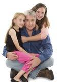 Padre con las hijas Imagen de archivo libre de regalías