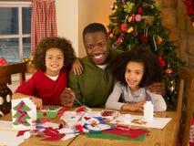 Padre dell'afroamericano con i bambini Fotografia Stock Libera da Diritti
