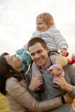 Padre della madre e la loro piccola figlia Fotografia Stock