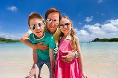 Padre e bambini Fotografia Stock