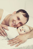 Padre e bambino Fotografia Stock Libera da Diritti