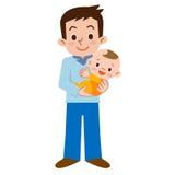 Padre e bambino Fotografie Stock