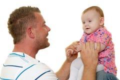 Padre e bambino sorridenti Fotografia Stock Libera da Diritti