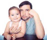 Padre e dauther Immagini Stock Libere da Diritti