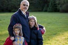 Padre e figli Fotografie Stock