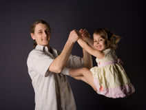 Padre e figlia Fotografia Stock Libera da Diritti