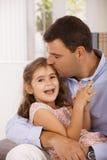 Padre e figlia Fotografie Stock Libere da Diritti