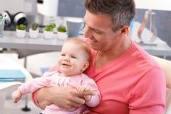Padre e figlia Fotografie Stock