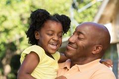 Padre e figlia dell'afroamericano Fotografie Stock Libere da Diritti